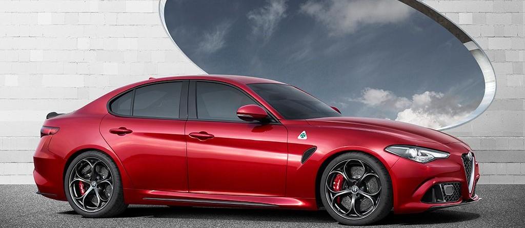 Alfa Giulia rouge côté